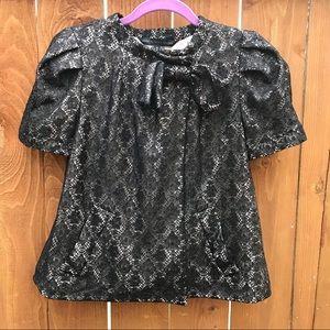 Marc Jacobs Black Metallic Lace Jacket Size M